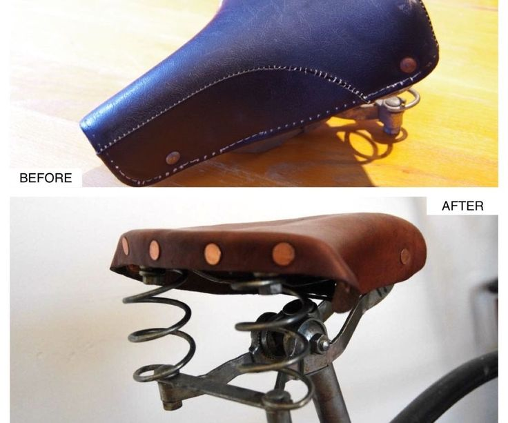 Brooks-like leather saddle from old mattress bicycle seat