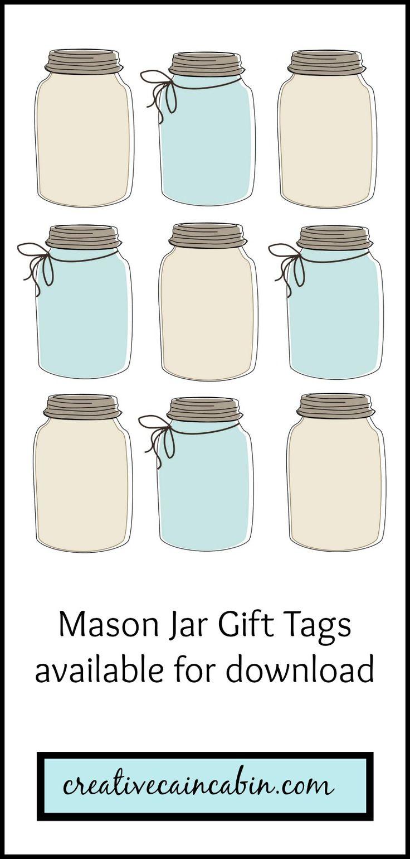 mason jar gift tag printable en dan insecten er in laten tekenen - Printable Printable