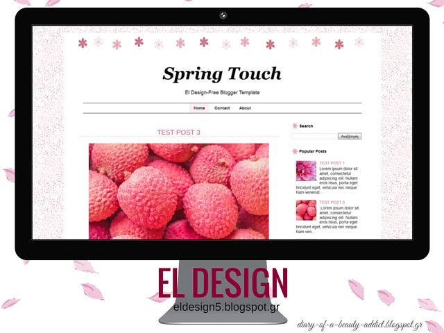 Free Blogger Template : Spring Touch by El Design