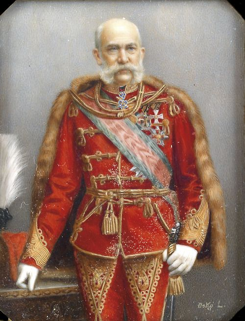 Franz Joseph as a Hungarian Hussar