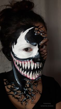 image result for venom face paint  face painting