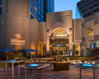 Hilton Charlotte Center City Hotel, Charlotte, NC - Clocktower   NC 28202