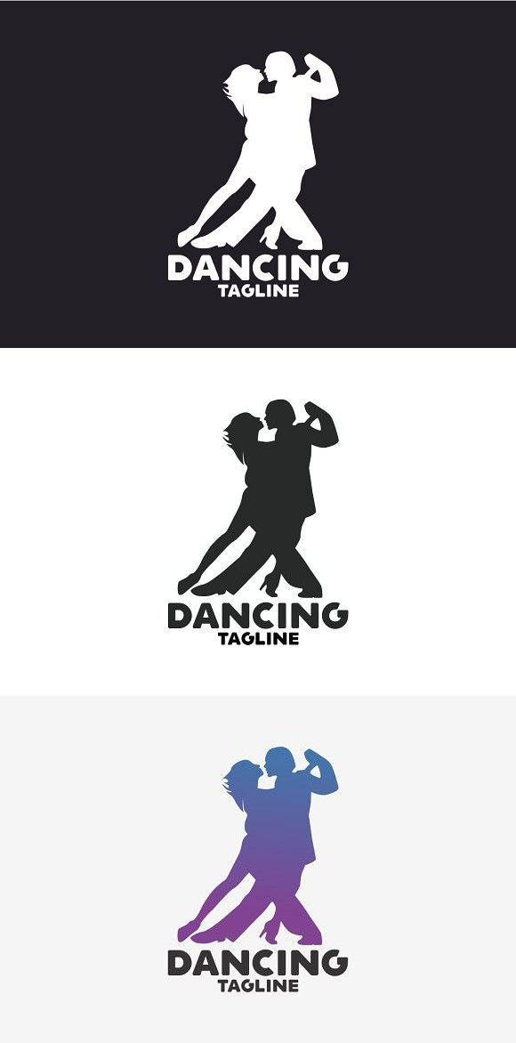 Dancing Logo #branding #couple