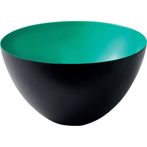 NORMANN Norman krenit bowl 25cm ($84) ❤ liked on Polyvore featuring home, kitchen & dining, dinnerware, normann copenhagen, steel bowl, colored dinnerware and round bowl