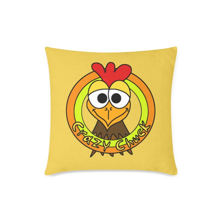 Crazy Chuck Chicken Head New Pillow Case Pillow Inner Included 18
