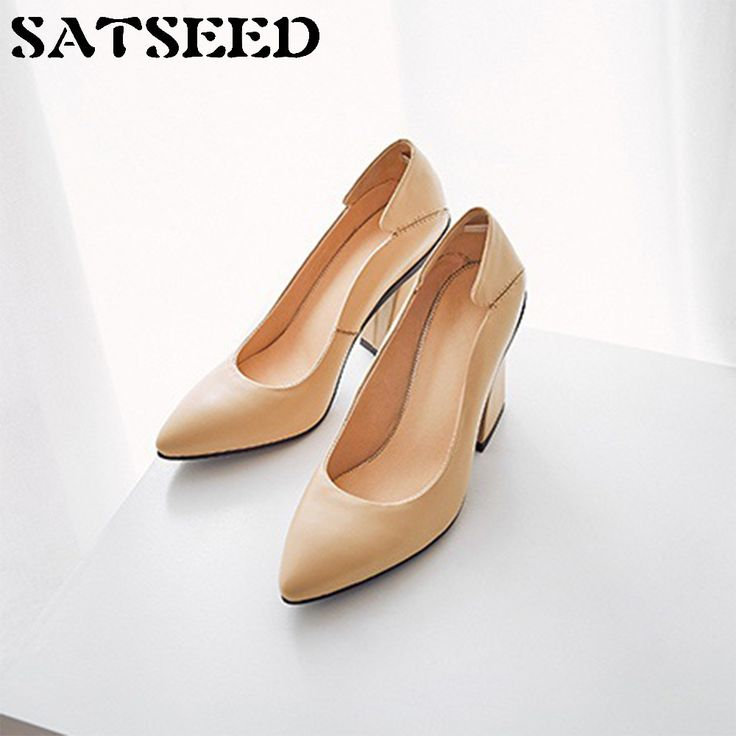 Fashion 2017 Spring Autumn Pumps Genuine Leather Shoes All-match Retro Rough Grandma High-heeled Shoes Shallow Casual Shoes New. Yesterday's price: US $84.22 (69.61 EUR). Today's price: US $58.11 (47.84 EUR). Discount: 31%.