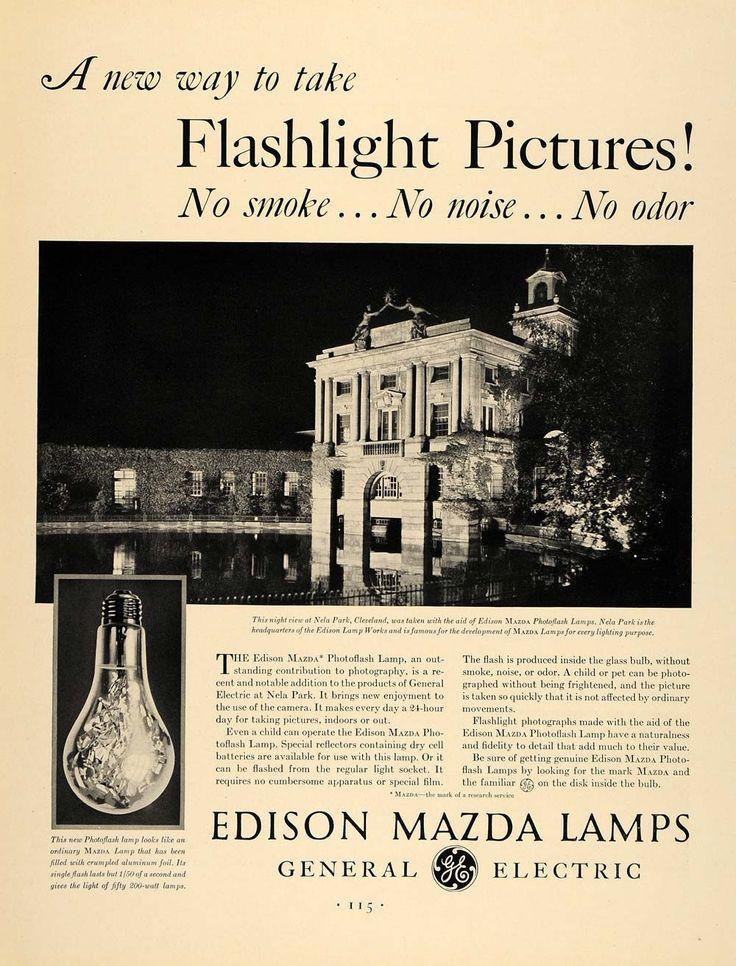 1931 Ad General Electric Edison Mazda Lamps Nela Park