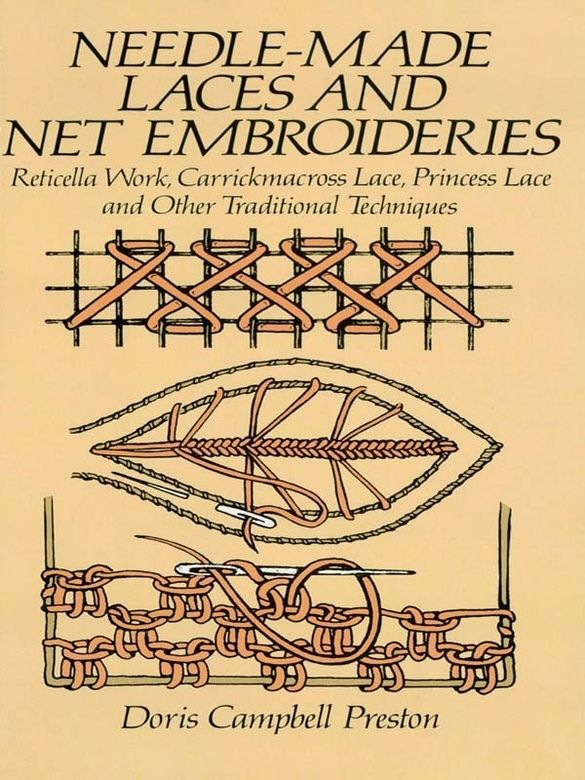 Needle-Made Laces and Net Embroideries by Doris Campbell Preston Classic guide gives complete instructions and stitch diagrams for beautiful designs of single-thread and needlestyle of lace-making.