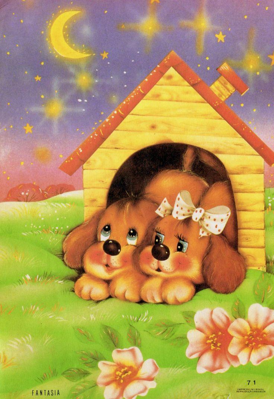 Fantasia 71 #papeldecarta #vintage #dogs