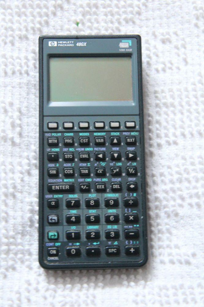 Used HP-48GX Hewlett Packard Calculator HP 48GX 128K ram