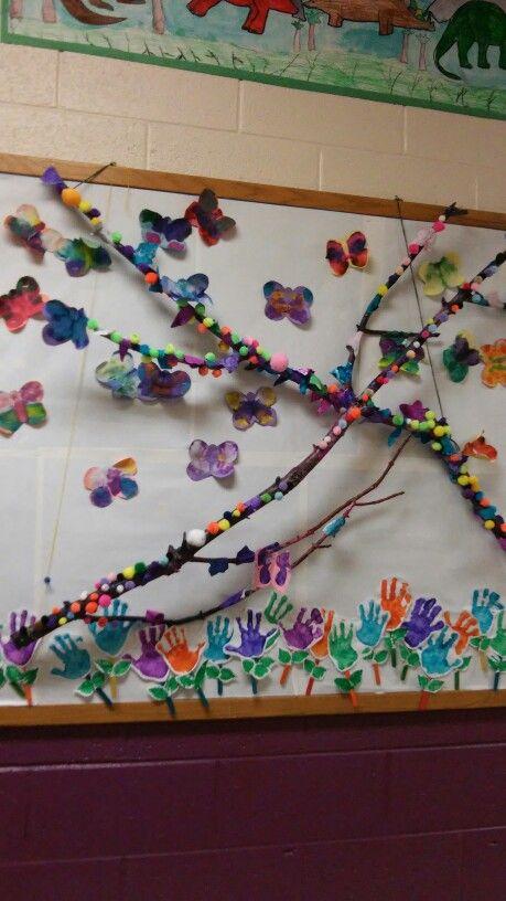 Symmetry butterflies and handprint flowers