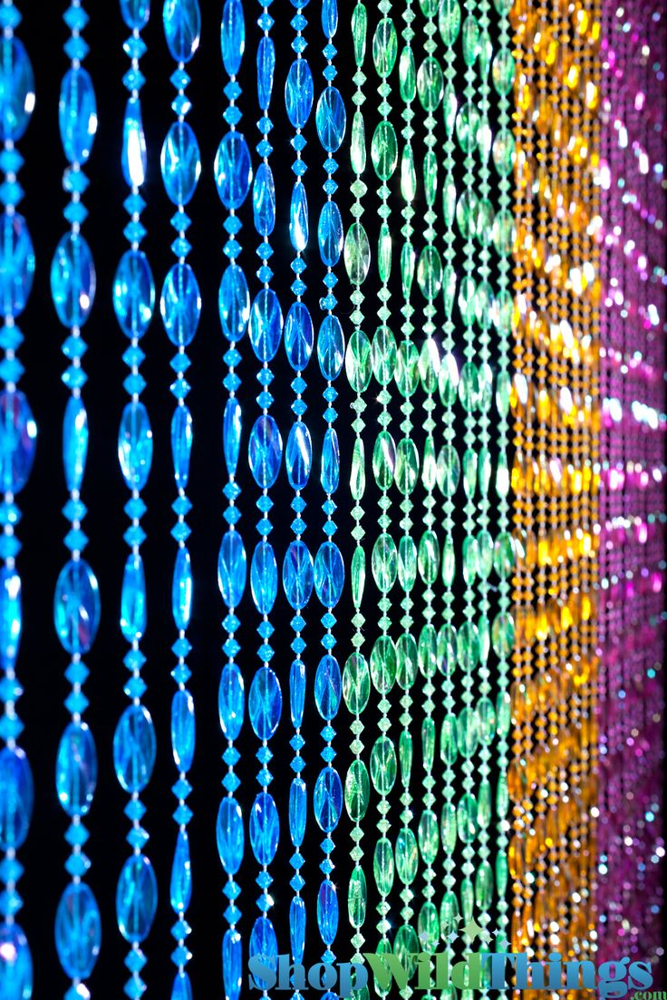"""This curtain has 34 strands of beautiful twisted beads and is 35"""" Wide x 70"""" Long. Our wonderful heavy-duty acrylic beaded curtains are a perfect addition to any room! Use in the place of regular doors"""