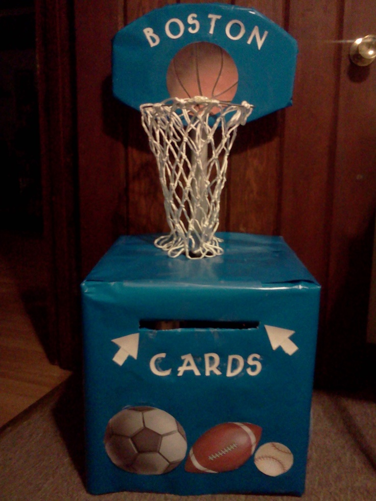 baby shower card box theme sports more valentine box baby shower card