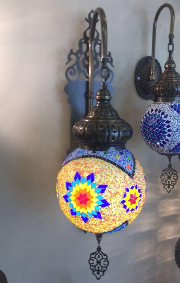 EXTRA LARGE MOSAIC WALL LAMP