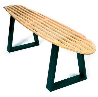 LKJ Bench   Made Out Of An Old Longboard Skate Deck.