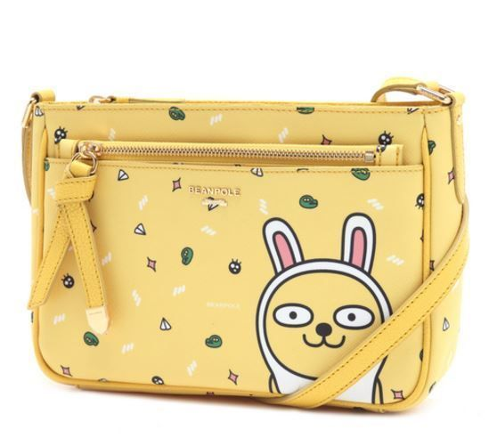 KAKAO Friends x Bean Pole Yellow Cross Bag Miss A Suzy Limited Edition Muzi Talk #BeanPolexKAKAOFriends #TotesShoppers