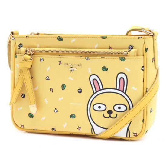KAKAO Friends x Bean Pole Yellow Cross Bag Miss A Suzy Limited Edition Muzi Talk #BeanPolexKAKAOFriends #TotesShoppers