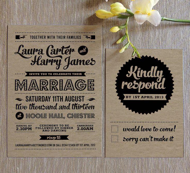 Retro Invites Weddings Pinterest Retro Vintage Rsvp