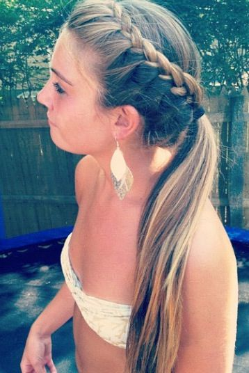 Miraculous 1000 Ideas About Braided Ponytail On Pinterest Super Long Hair Short Hairstyles For Black Women Fulllsitofus