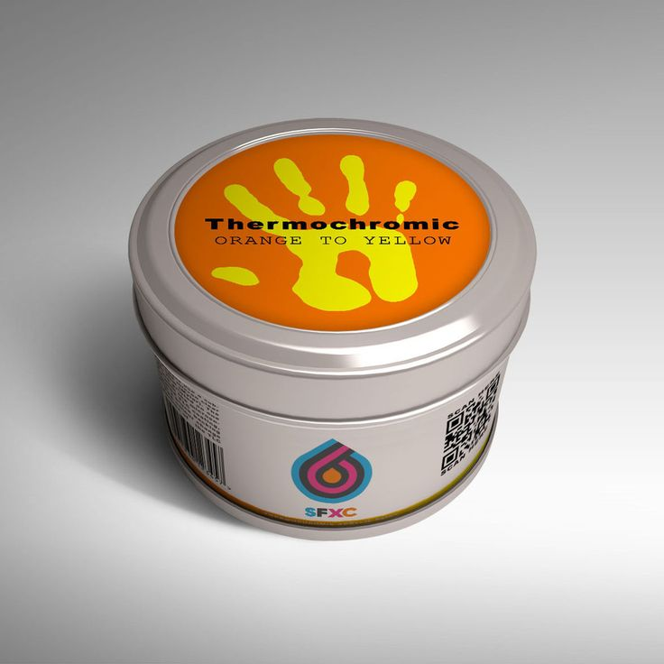 Thermochromic Acrylic Paint - Orange to Neon Yellow