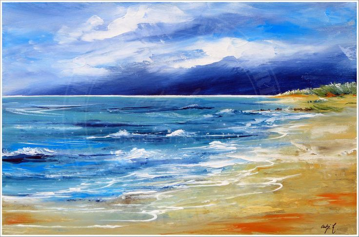 Antje Hettner Picture Original Art Painting Canvas Painting