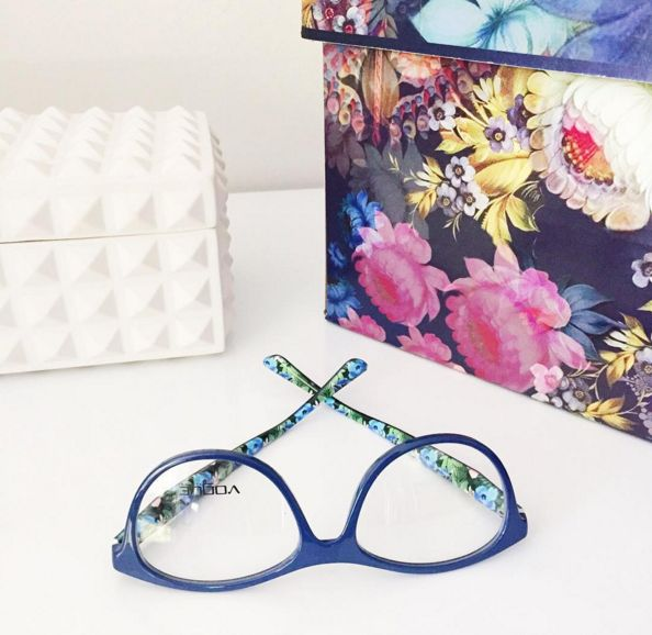 Monday's with Vogue Eyewear are blue are floral! #YYC #YYCLiving