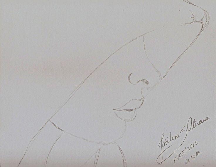 Desenho em grafite (contorno) 29cmx23cm... Nem toda Arte precisa ser completa para ser uma Bela Arte!!! Josi Oliveira ┈━═☆