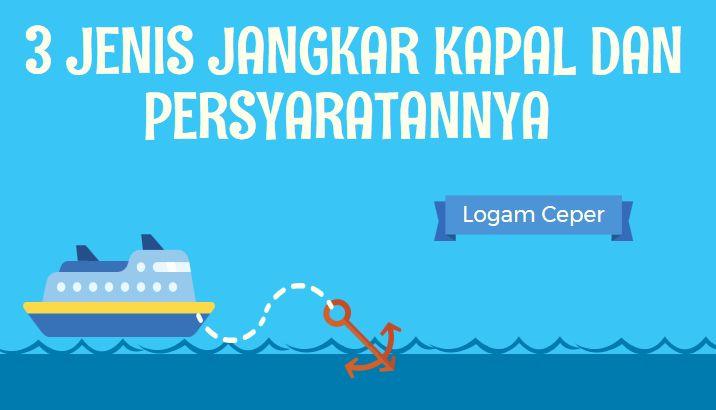 3 Jenis Jangkar Kapal dan Persyaratannya - Logam Ceper
