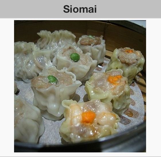 Shumai- also spelled as siu mai or shaomai, also called pork dumplings, is a type of traditional Chinese dumpling served as dim sum. Alternative names Variously spelt shaomai, shui mai, shu mai, sui mai, shui mei, siu mai, shao mai, siew mai, or siomai Type Dim sum Place of origin China Region or state Guangdong Main ingredients minced lamb, seasoned ground pork, whole and chopped shrimp, Chinese black mushroom, lye water dough Variations Siomay Cookbook:Siomai Siomai Shumai Chinese name…