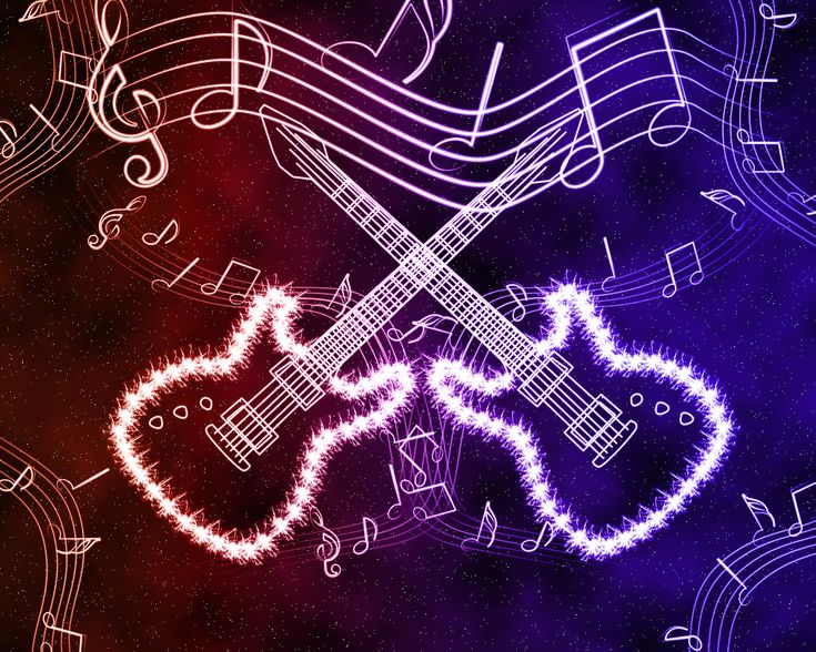 Neon Music Notes Wallpaper: Neon Guitar Effects By ~Culaki On