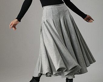gris de falda falda skater mini falda falda invierno por xiaolizi