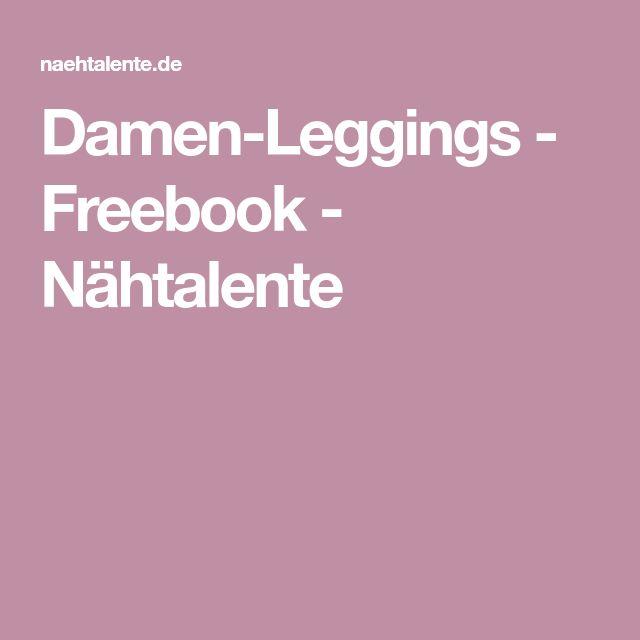 Damen-Leggings - Freebook - Nähtalente