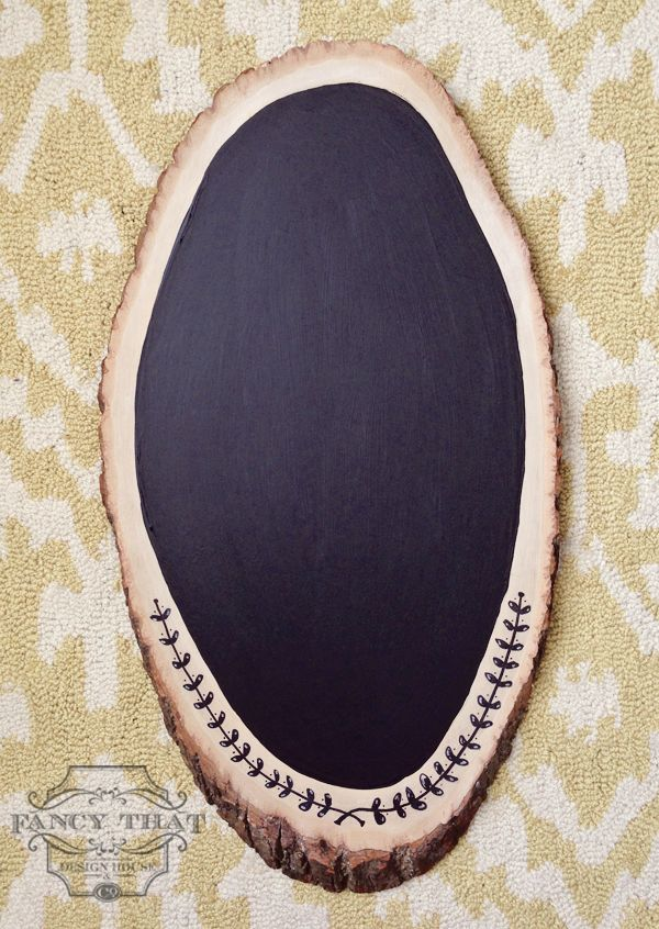 Wood Slice Chalkboard Tutorial