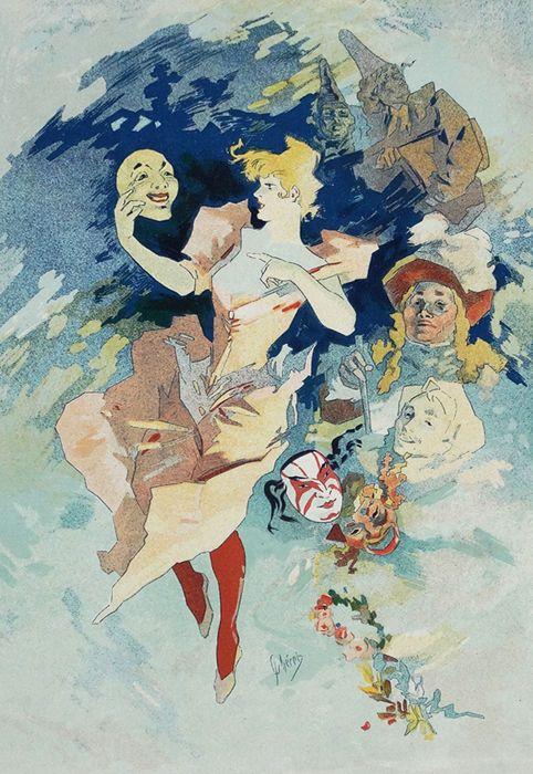 Jules Chéret – la Comedie – 1897