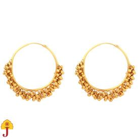 Buy Gold Plated Ghungaroo Bali 113JE13 online - JaipurMahal ethnic online store |Rajasthan jewellery |Handicraft | gift shop | Handmade products| Wedding gift online | Jaipur online for India |Rajasthani Jewellery, Crafts