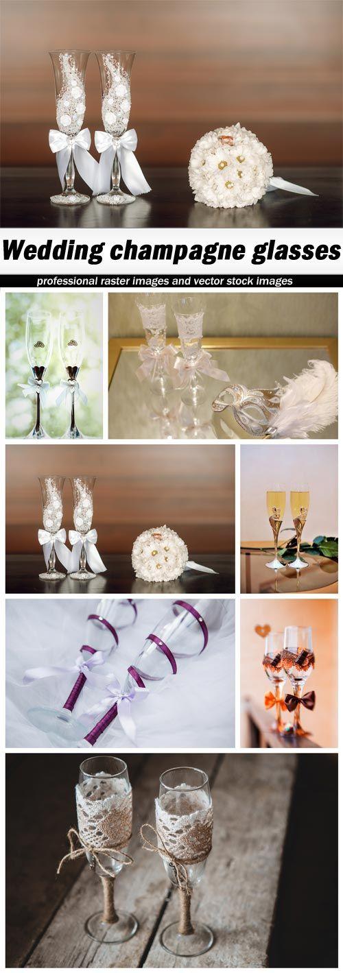 Wedding champagne glasses - 7 UHQ JPEG