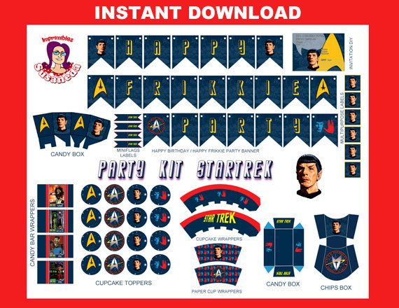 STAR TREK Kit Fiesta Imprimible English por ImprimiblesSusaneda