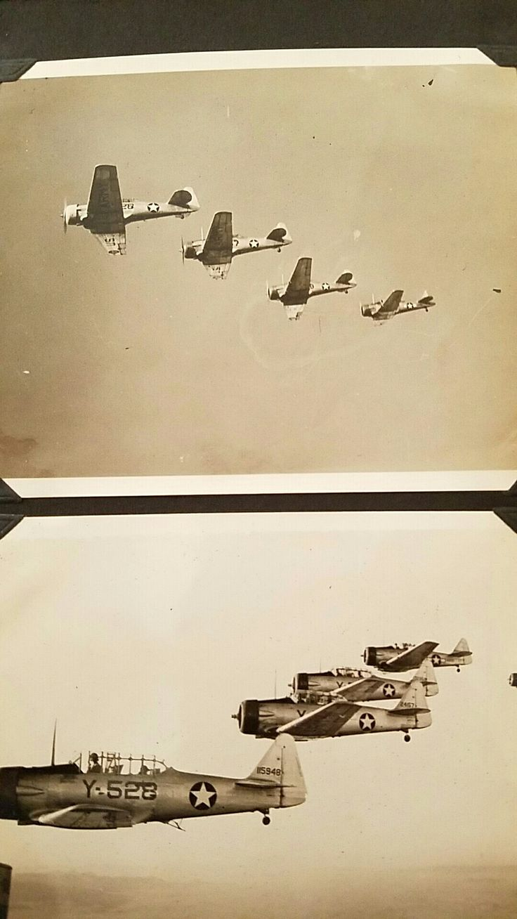 Formation Flying above Ajo Airbase 1944. Lloyd G. Culbreth collection