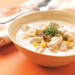 I've gotta make some of my own white chili with turkey burger and canned artichoke hearts