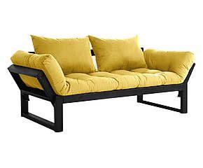 Divano/futon multifunzionale Edge black giallo - max 200x80 cm