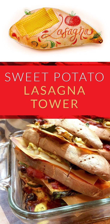 Sweet Potato Lasagna Tower