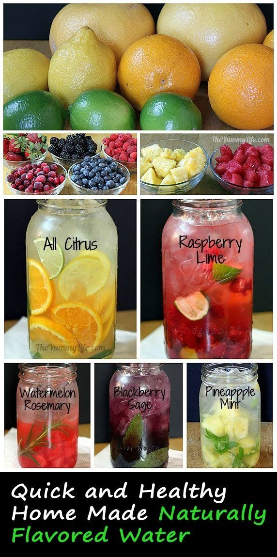 Infusing water with different  fruit.