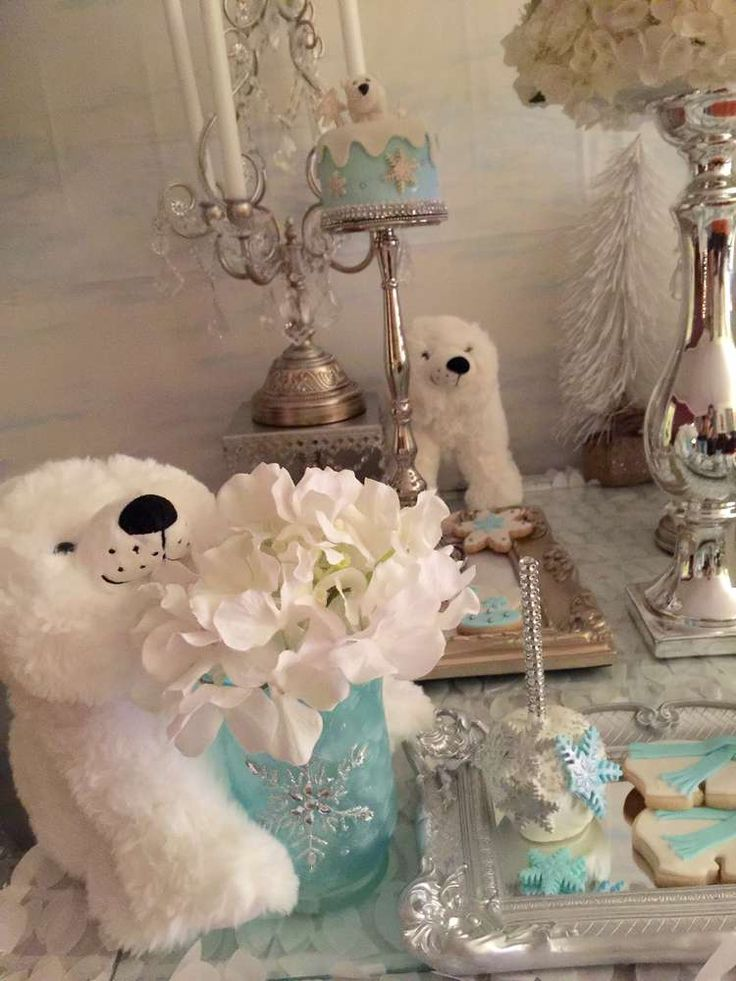 polar bears baby shower party ideas bear baby showers. Black Bedroom Furniture Sets. Home Design Ideas