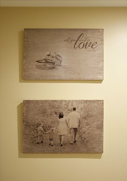 Transferir fotos para a madeira é muito fácil e dá um charme único para a sua decoração.