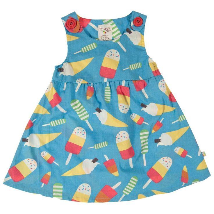 Frugi Βρεφικό Αμάνικο Φορεματάκι – Μπλε με Παγωτά - Sunnyside