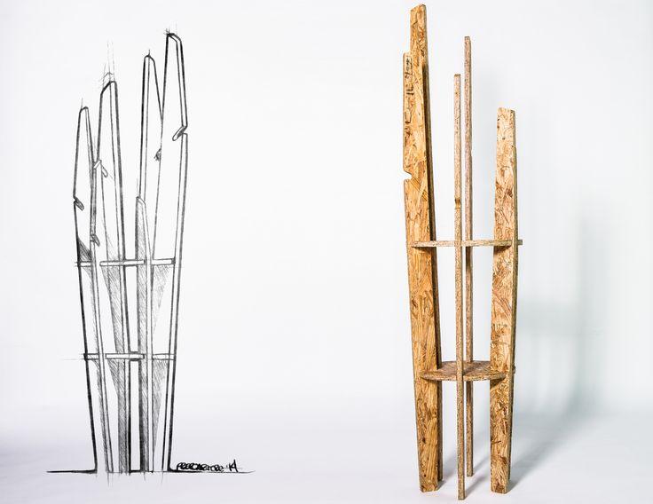El estudiante de diseño Pedro Arturo Ruiz, diseñó para Notwaste un perchero multifuncional para la compañía de mobiliario Notwaste, una compañía italo-mexicana que se enfoca en la premisa de no generar desperdicio en todo el proceso de diseño.