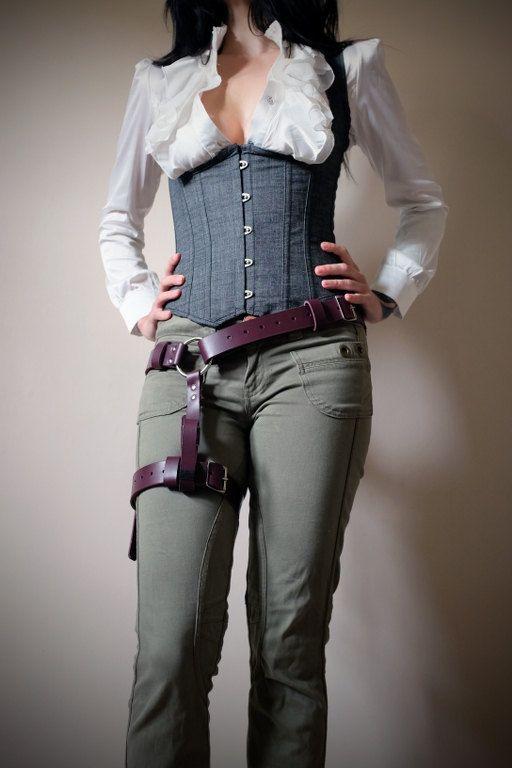 Unisex Thigh Harness - Plum - steampunk - festival - burning man, Please read Description for size