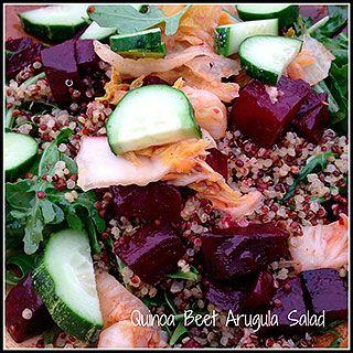 Quinoa Beet Arugula Salad