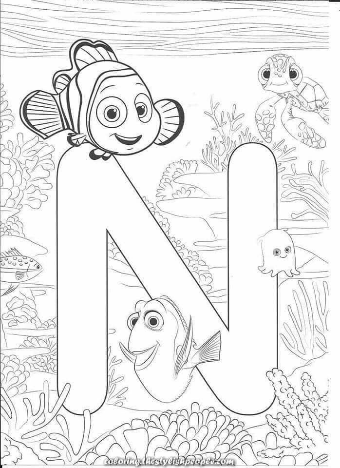 Color Me In 2020 Disney Coloring Sheets Abc Coloring Pages Disney Alphabet