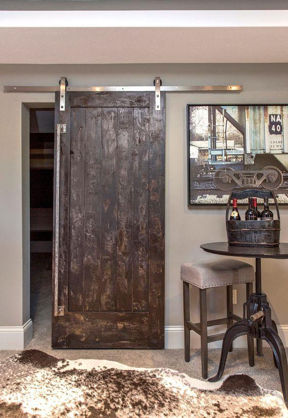 la porte de grange en 37 id es d co nature granges et anse. Black Bedroom Furniture Sets. Home Design Ideas
